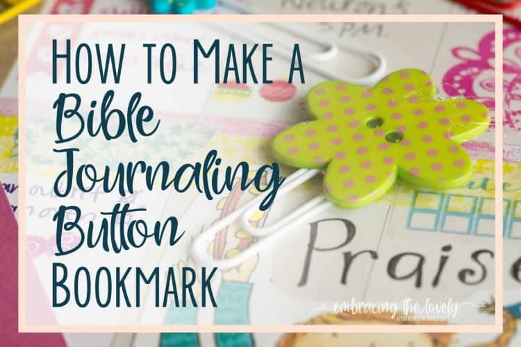 How to Make Paper Clip and Button Bible Journaling Bookmarks