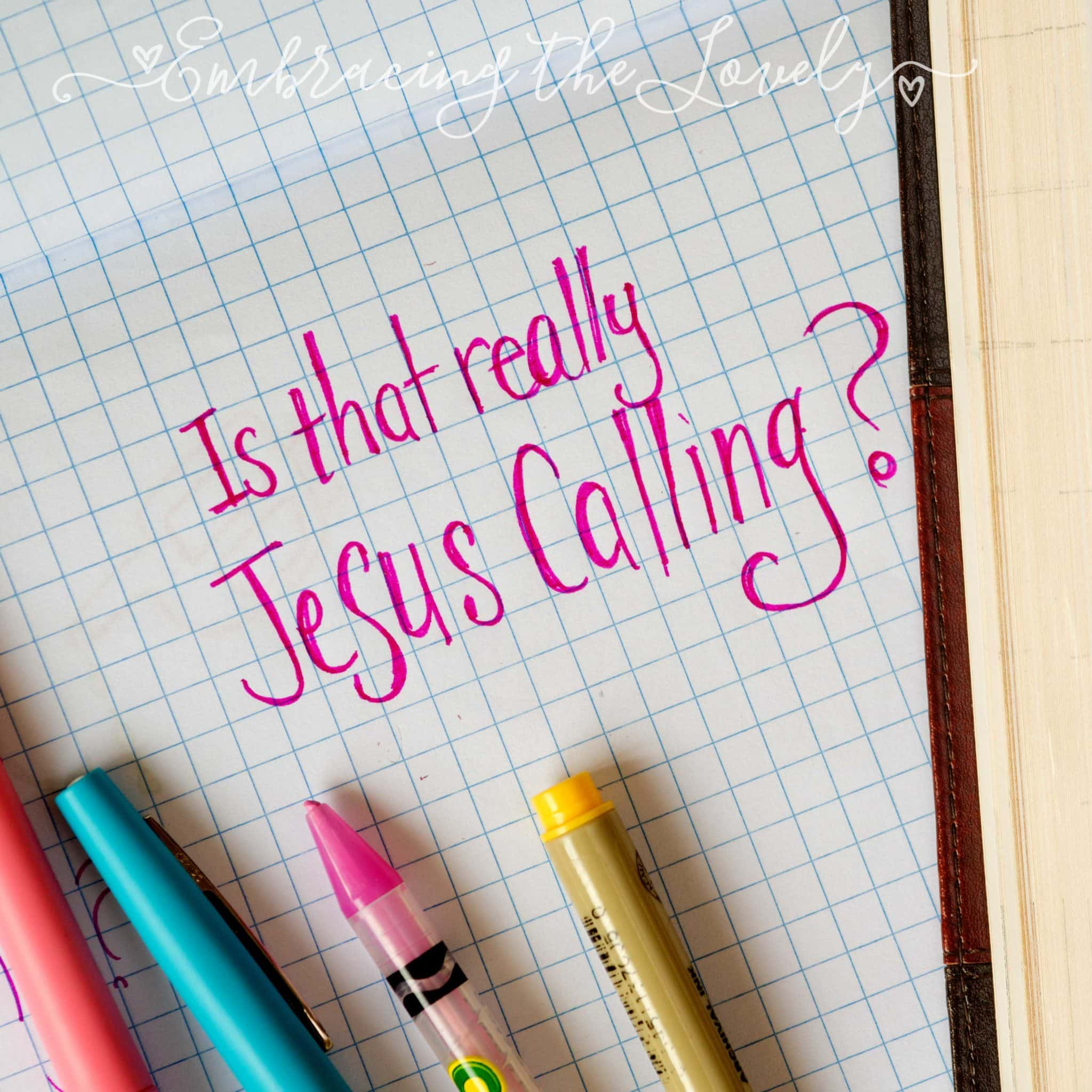 Is Jesus Calling heresy? Find out why I will not finish reading the popular devotional with this Jesus Calling criticism from the view of a women who grew up in a New Age home