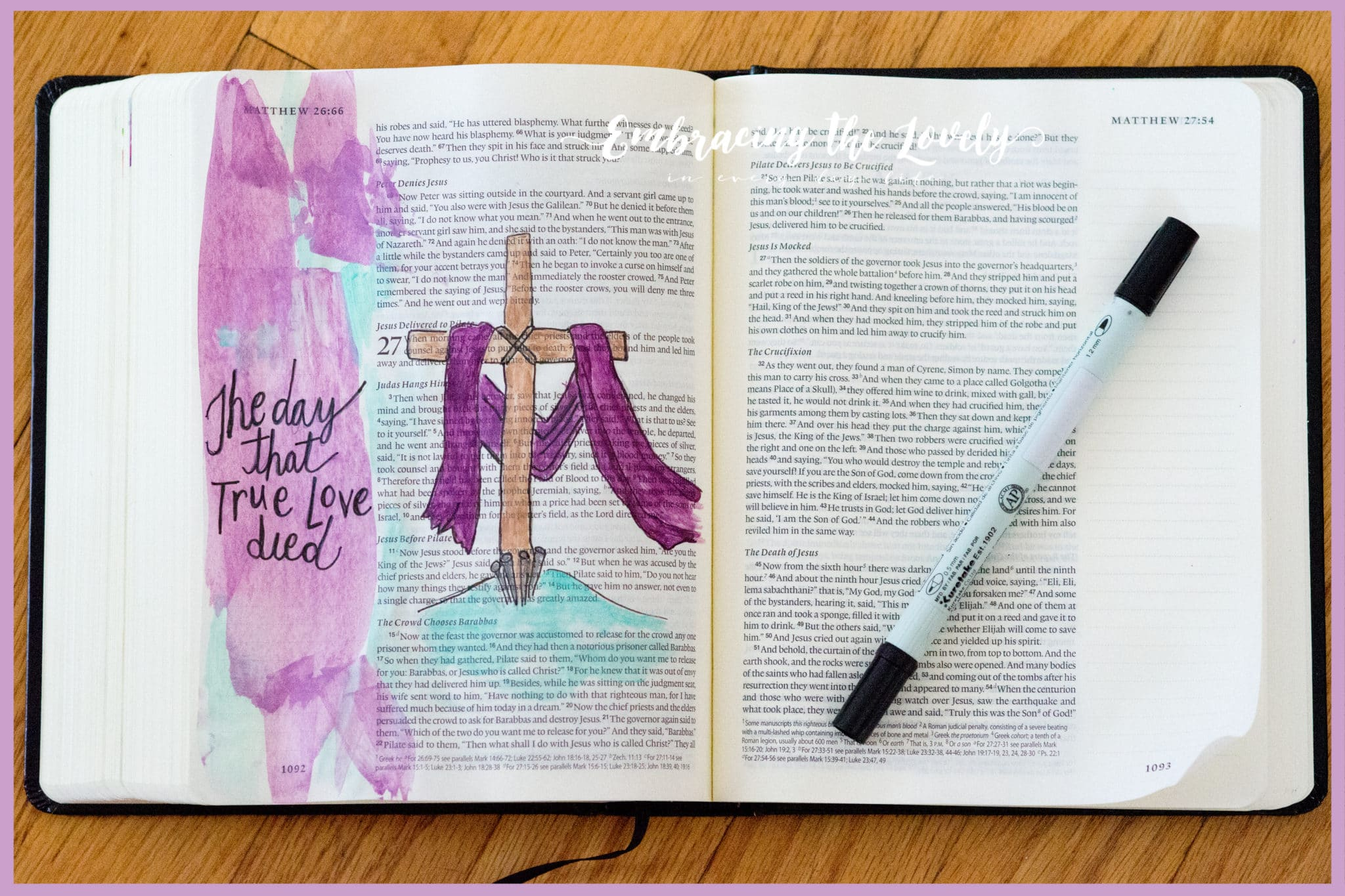 True love in Christ is action and not just words. Join Hey Creative Sister with this bible journaling and devotional reflecting on the Ultimate Sacrifice of the Lord Jesus
