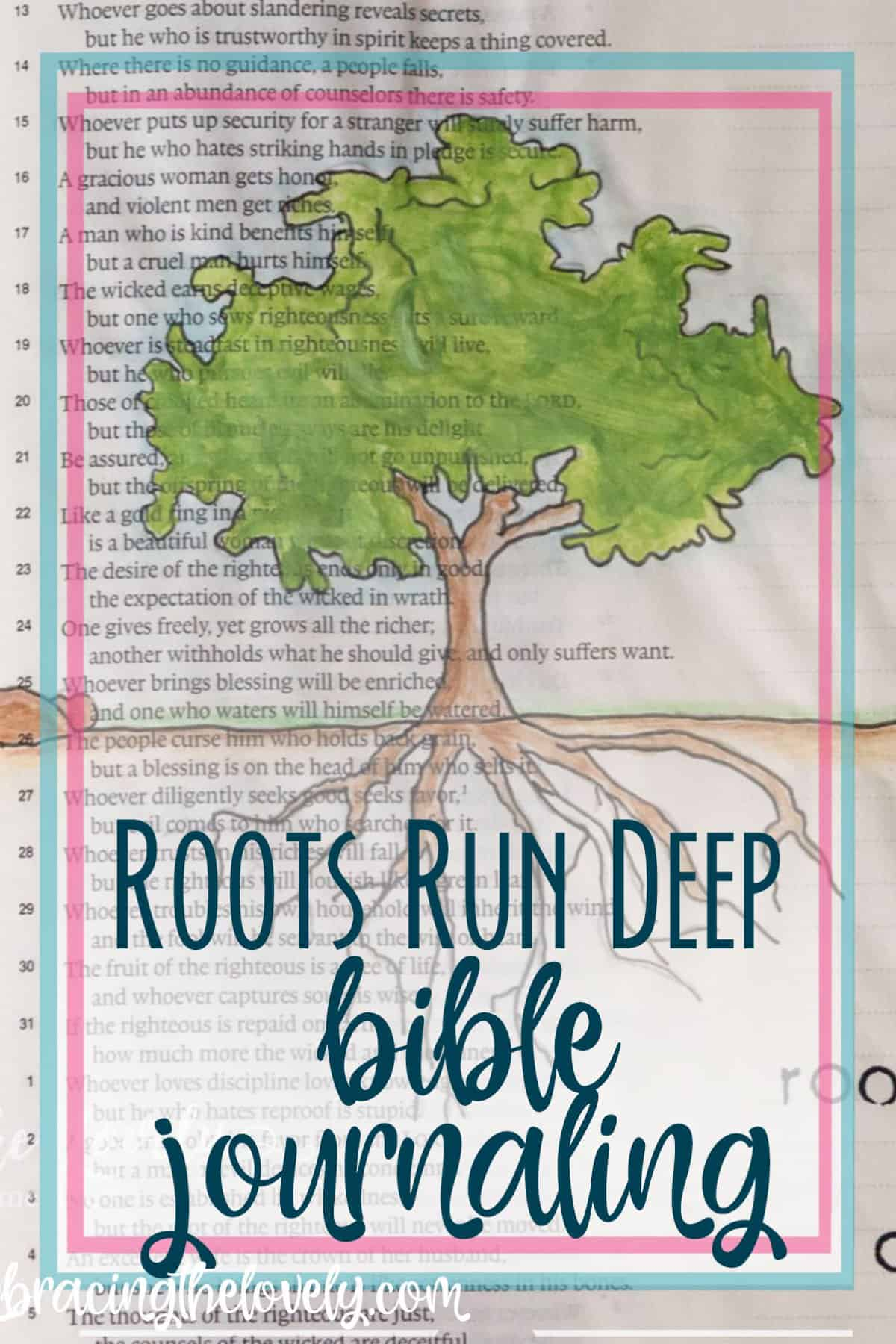 Do your Roots Run Deep into the Love and Mercy of God's Love? A Bible Journaling with Hey Creative Sister