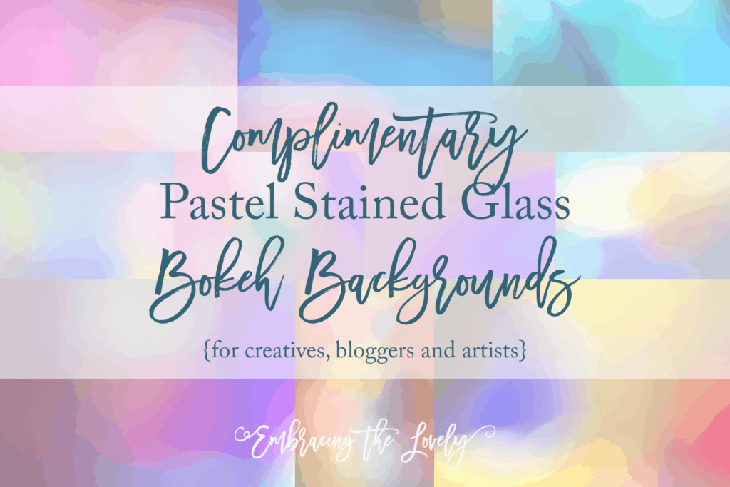 Pastel Stained Glass- Free Bokeh Backgrounds from Hey Creative Sister