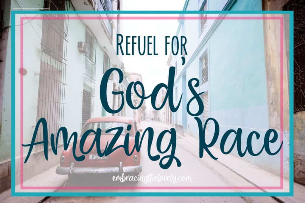 Are you in need of a spiritual refuel in God? Is your faith in need of a pit stop to tune up your faith so you can run the race God has set before you?