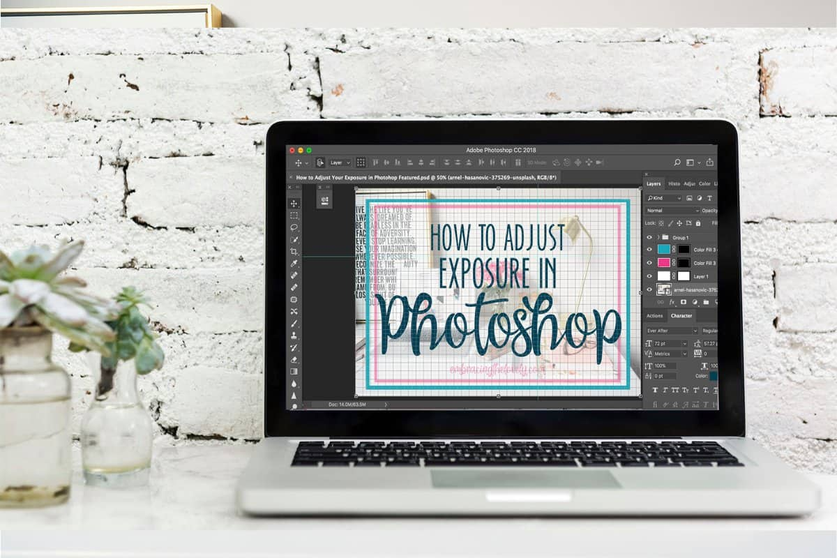 How to Adjust Exposure in Photoshop with Hey Creative Sister