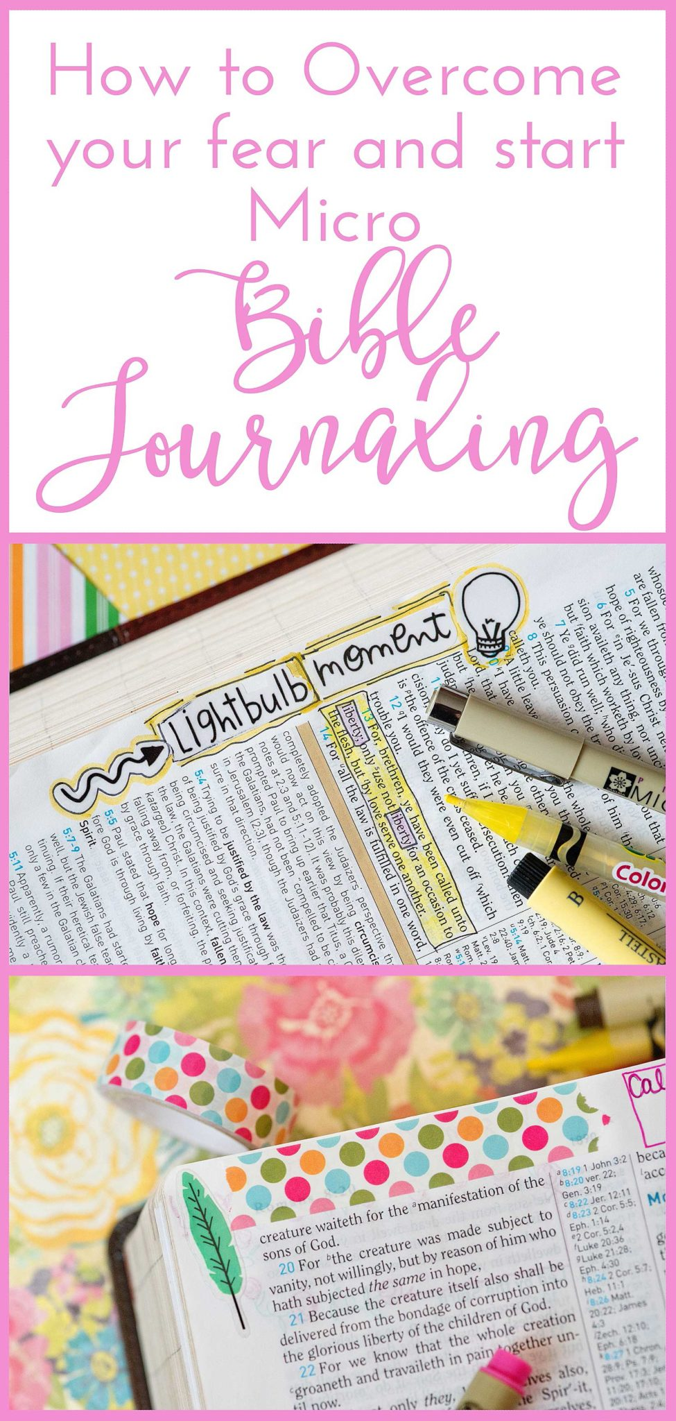 How to Overcome your Fear and Start Micro Bible Journaling in the Margins