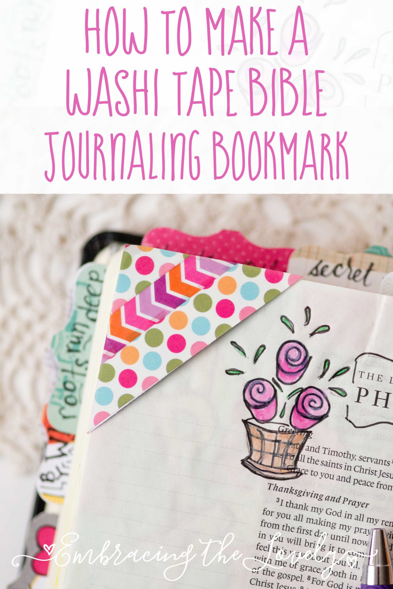 Make a Quick and Easy Washi Tape Bible Journaling Bookmark