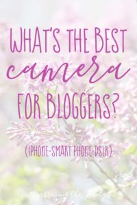 What's the Best Camera for Bloggers? Hey Creative Sister shares some examples of images from a DSLR and smart phone and why you should buy a DSLR to improve your blog photography