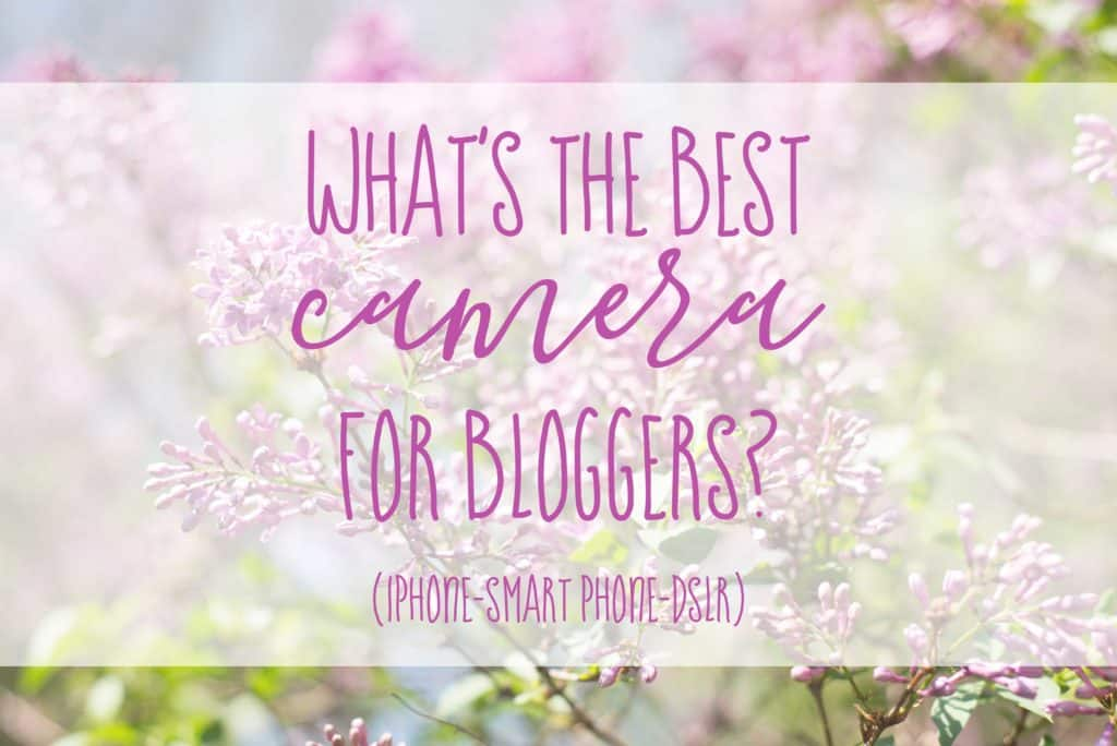 What is the best camera for a blogger? This side by side evaluation will share that a DSLR plus a 50mm lens can drastically improve your blog photography.