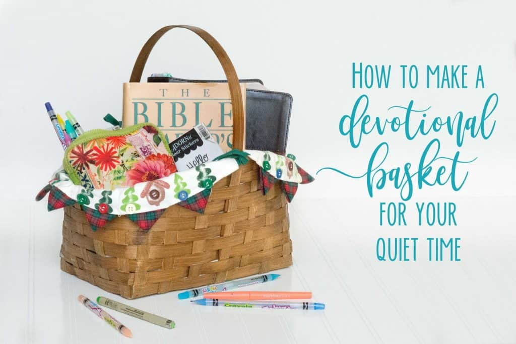 No more searching for needed items during your devotional time. Make this Bible Devotional Basket for your quiet time supplies with Hey Creative Sister