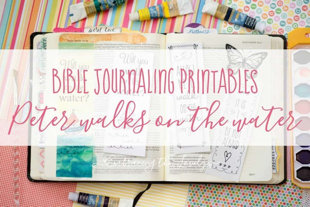 Get your free Peter Walks on the Water Bible Journaling free printables and grow your creativity and faith with Hey Creative Sister!