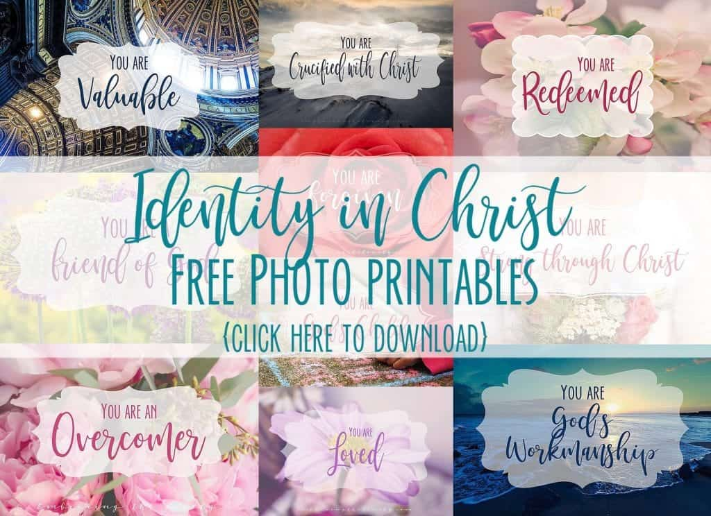"Have you ever asked yourself the question ""What is My Identity in Christ"" and ""How Can I Embrace Who God Says I Am?"" Click over to read this encouraging devotional and download your FREEIdentity in Christ Photo Printable- Hey Creative Sister"
