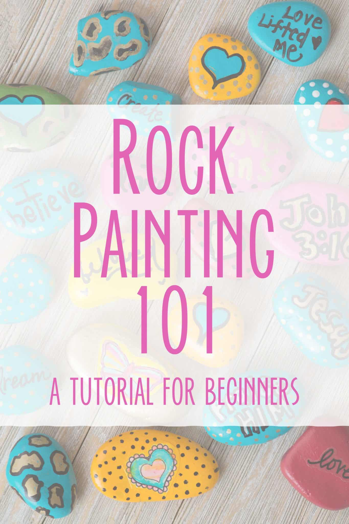Looking To Get Started In Rock Painting? Check out this Easy Rock Painting Tutorial for Beginners from Hey Creative Sister