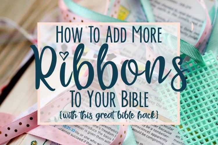 How to Add More Ribbons to Your Bible (bible ribbon bookmarks)