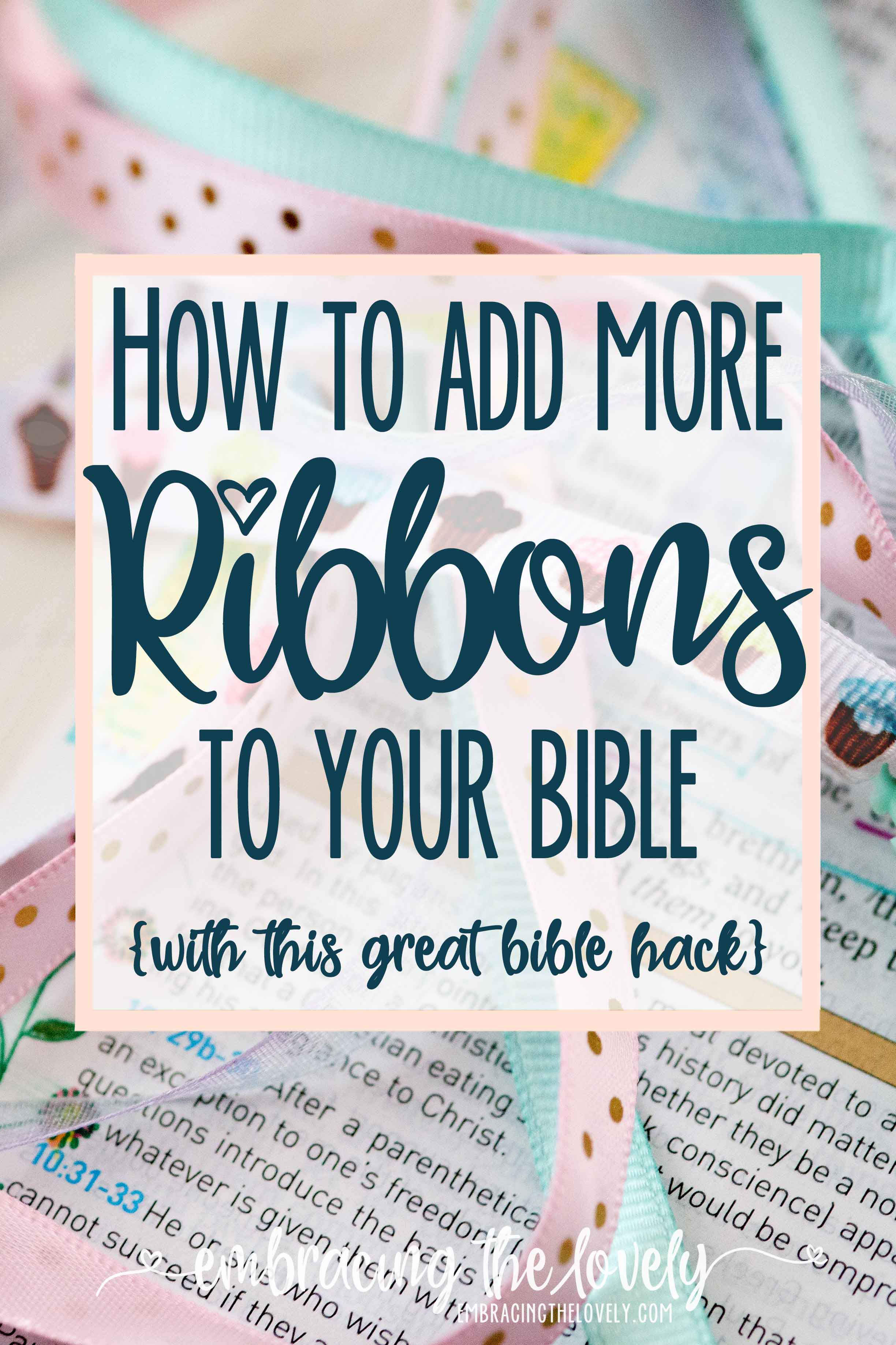 Enhance your Personal Bible Study and Bible Reading by Adding More Ribbons to Your Bible With This Bible Ribbon Bookmark Tutorial from Hey Creative Sister