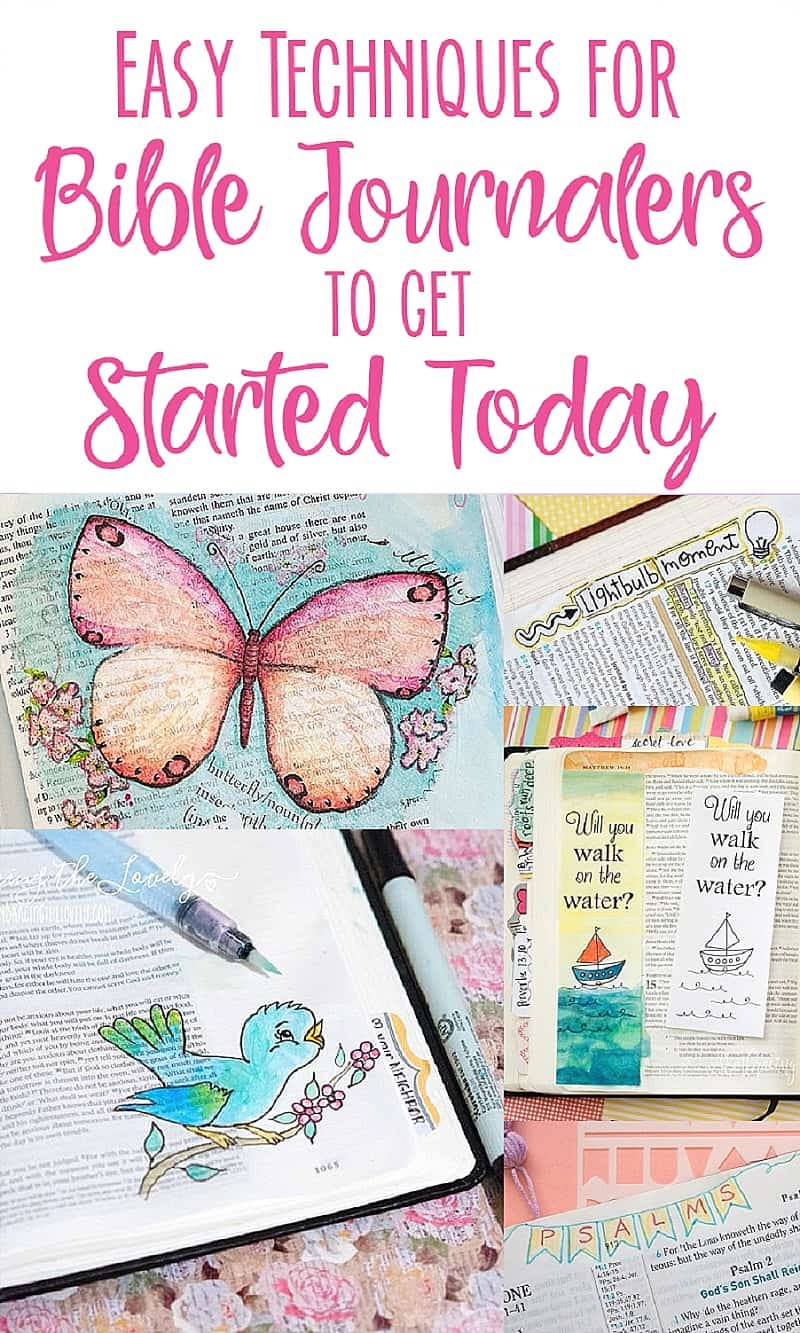 Easy Techniques for Bible Journalers to get Started Today with Hey Creative Sister