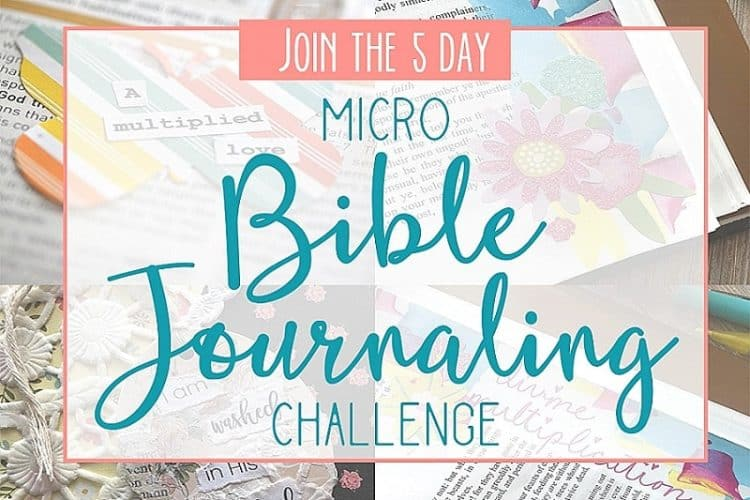 Join the 5 Day Micro Bible Journaling Challenge!
