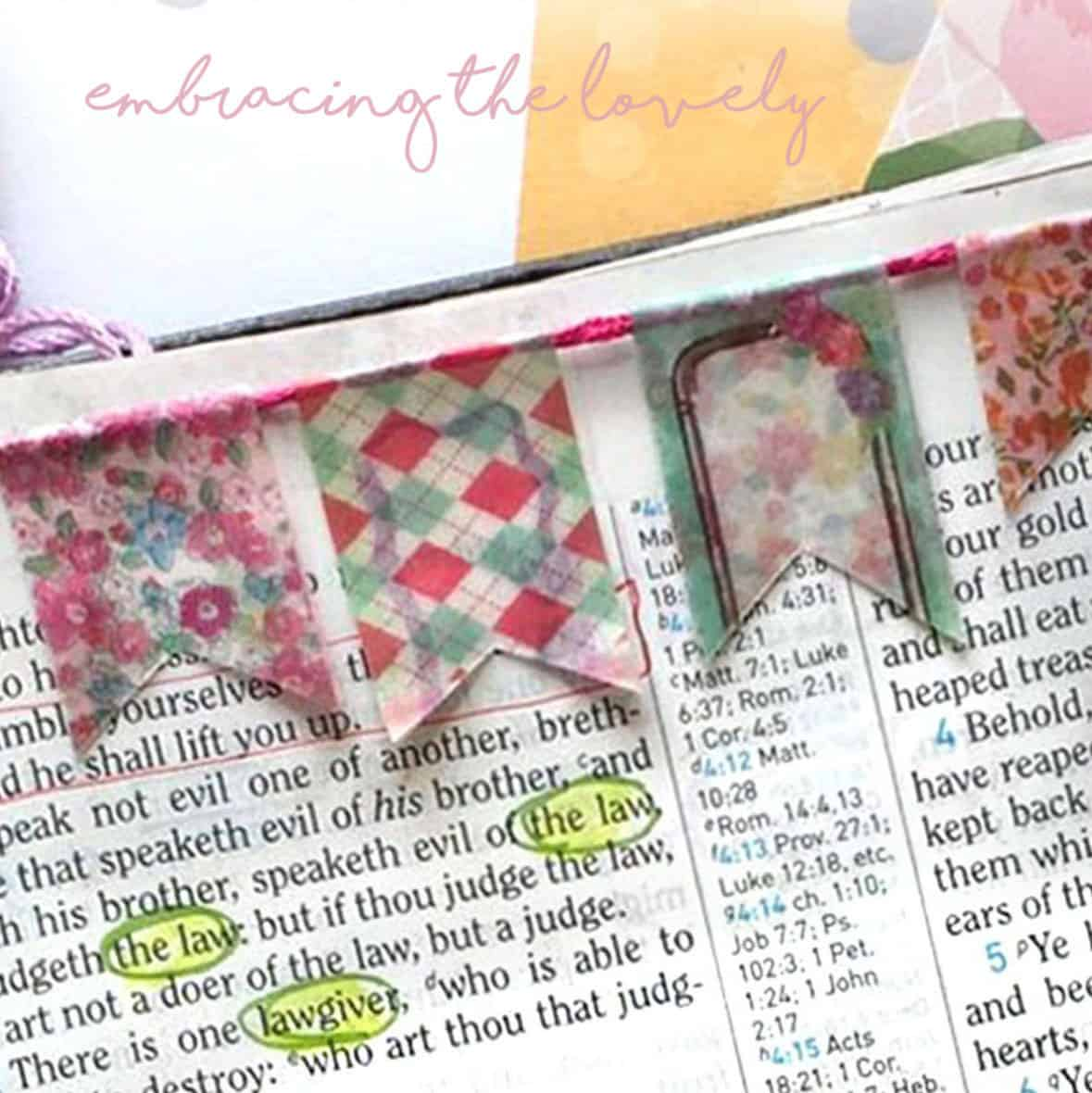 Connect your Creativity and Faith with these 7 Bible Washi Tape Ideas