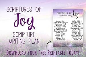 These Bible verses for joy will give you a biblical perspective into what joy really is- even in the difficult times with Hey Creative Sister