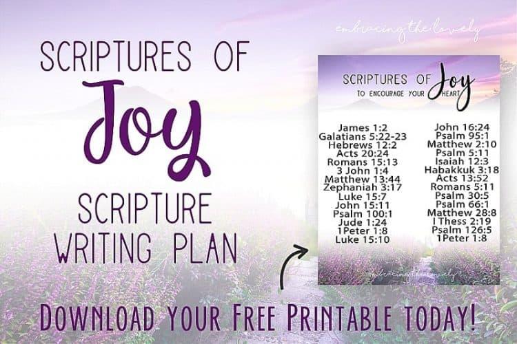 Bible Verses for Joy+Scripture Writing Plan