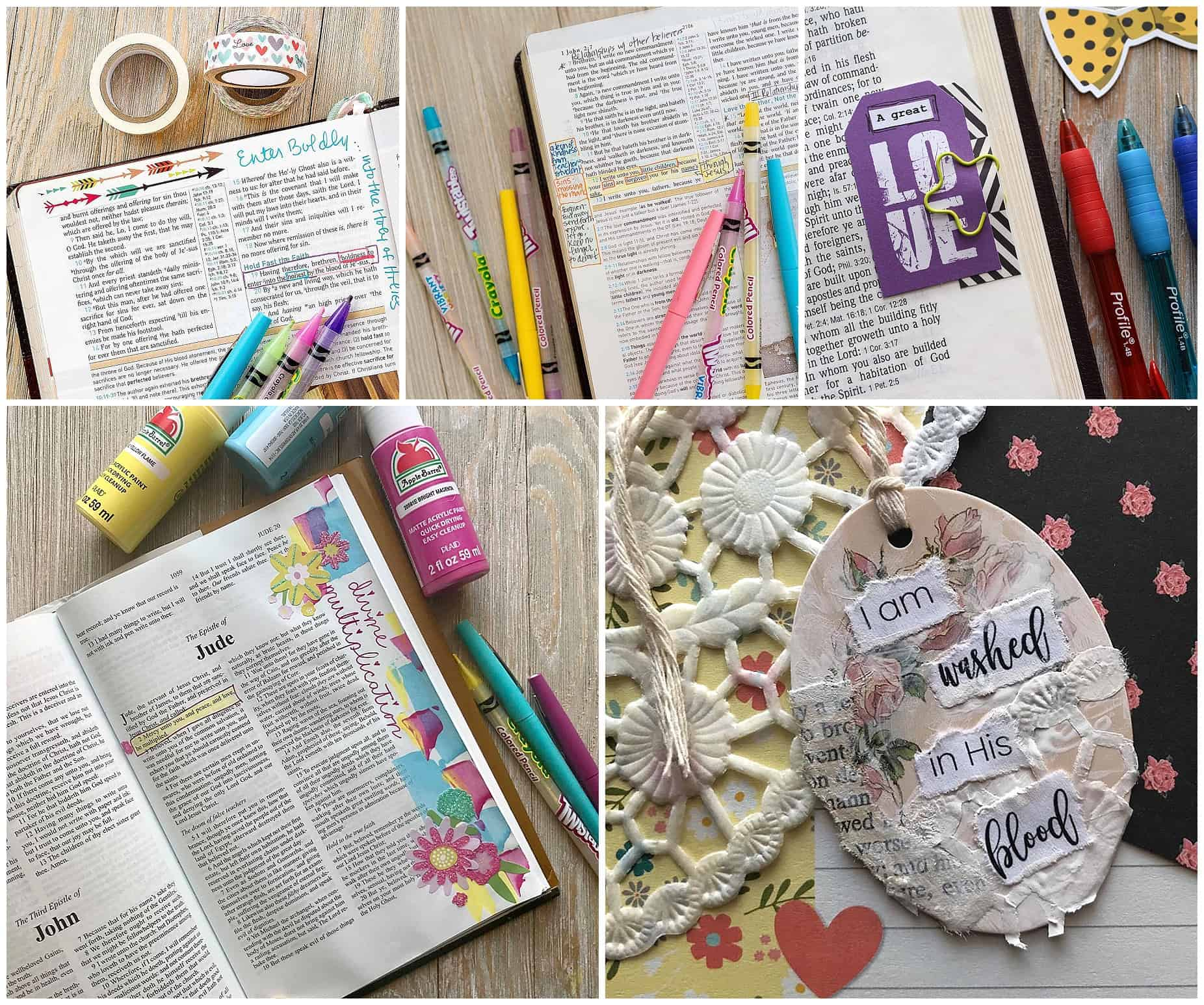 Tiny Bible Journaling Challenge with Hey Creative Sister