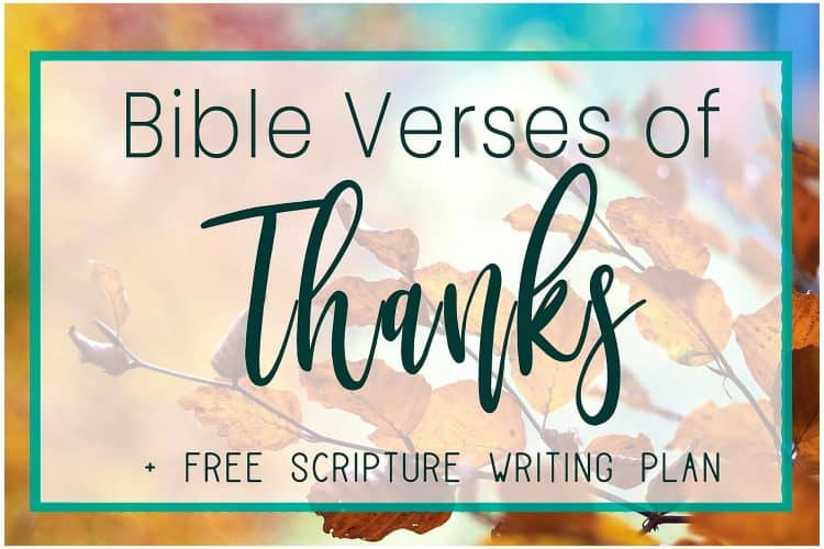 Thanksgiving Scriptures in the Bible+ Scripture Writing Plan