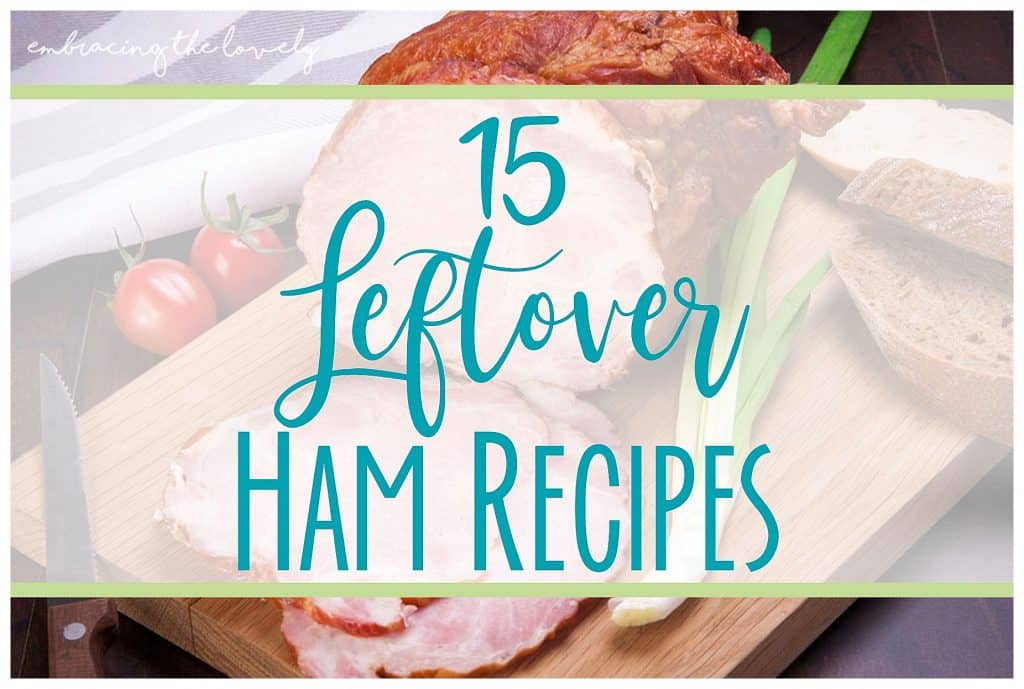 These 15 Ham Recipes with Leftovers are perfect any time of the year and will make your dinner a snap to put on the table- with Hey Creative Sister