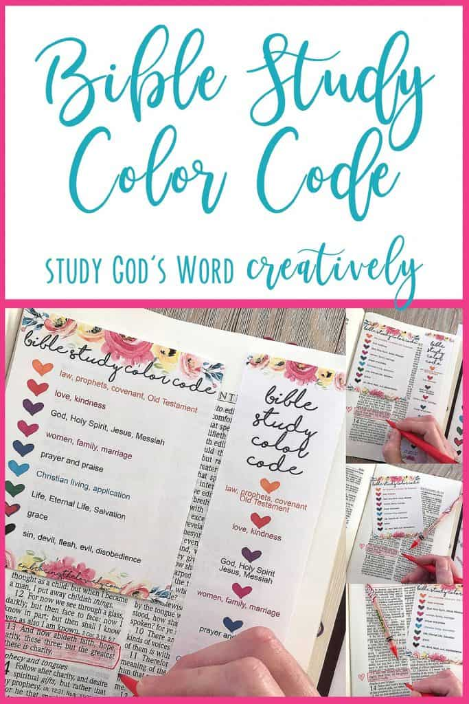 Connect your Creativity and Faith with this Color Code Bible Study Printable from Hey Creative Sister