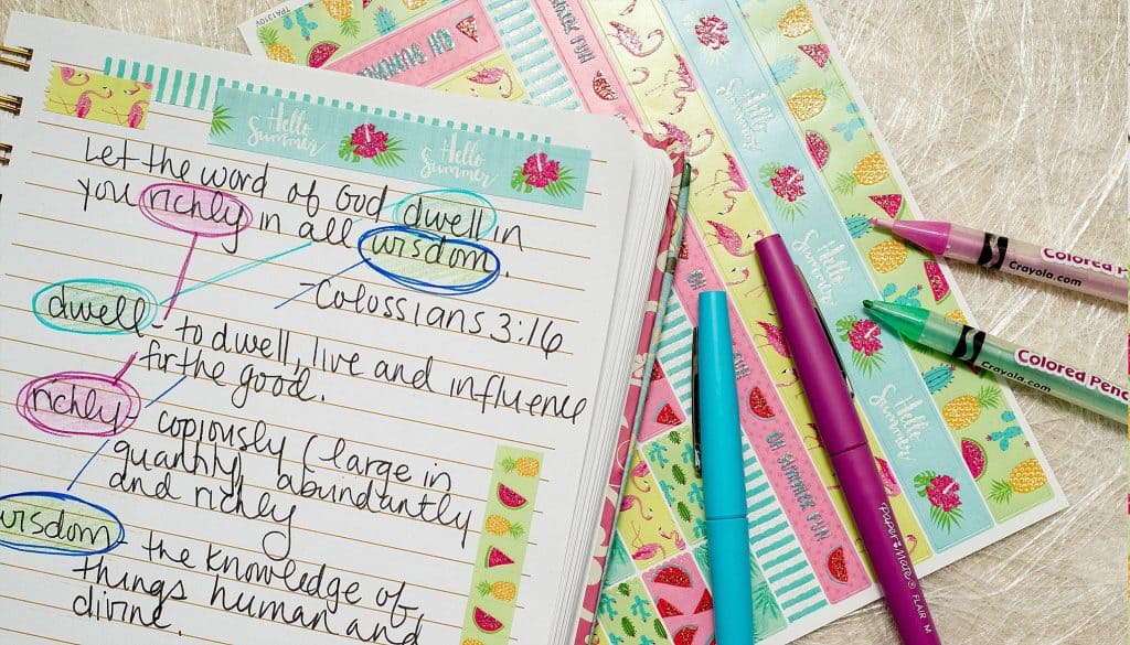 Creative Inspiration with your Scripture Writing and Scripture Writing Plans with Hey Creative Sister