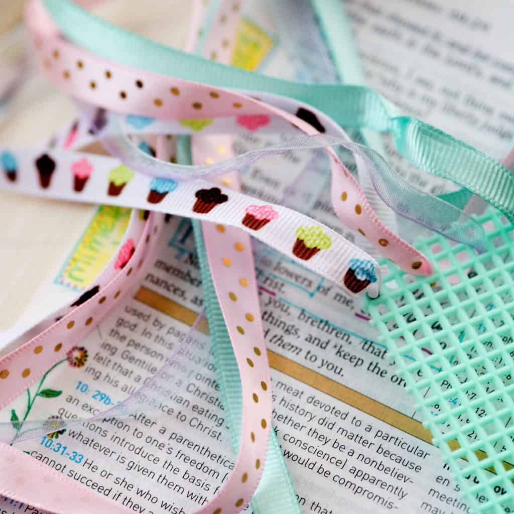 Add a Splash of Color to Your Bible by Adding Ribbons to Your Bible with Hey Creative Sister