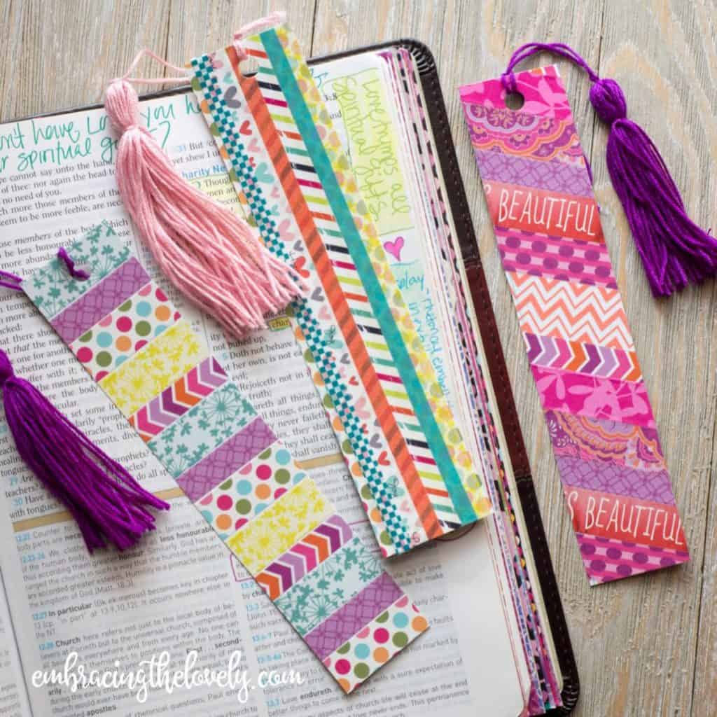 Bible Journal Without Writing in Your Bible with These Easy Bookmarks from Washi Tape with Hey Creative Sister