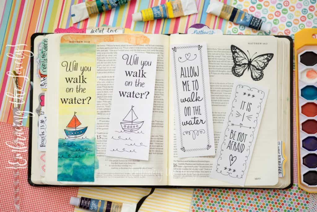 Clip this Bible Journaling Printable into the Margins of Your Bible or Use It as a Bookmark with Hey Creative Sister