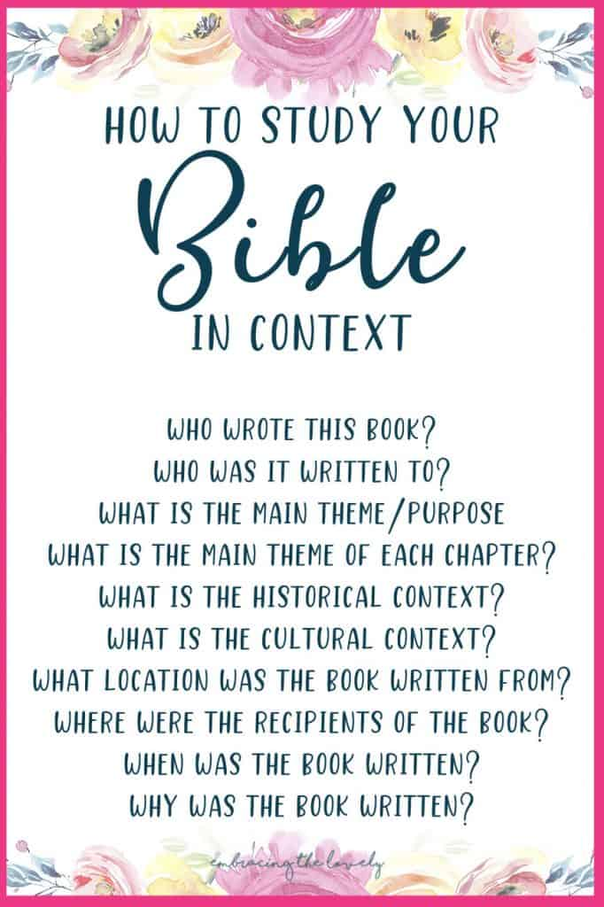 How to Study Your Bible In Context with Hey Creative Sister