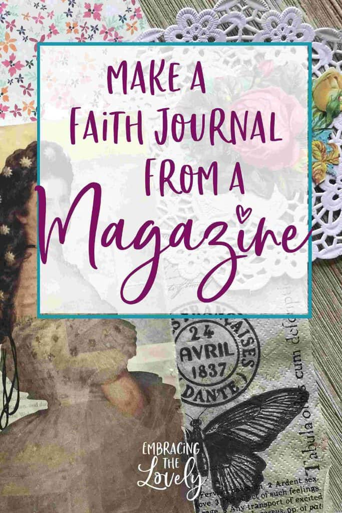 Make a Faith Journal from a Magazine