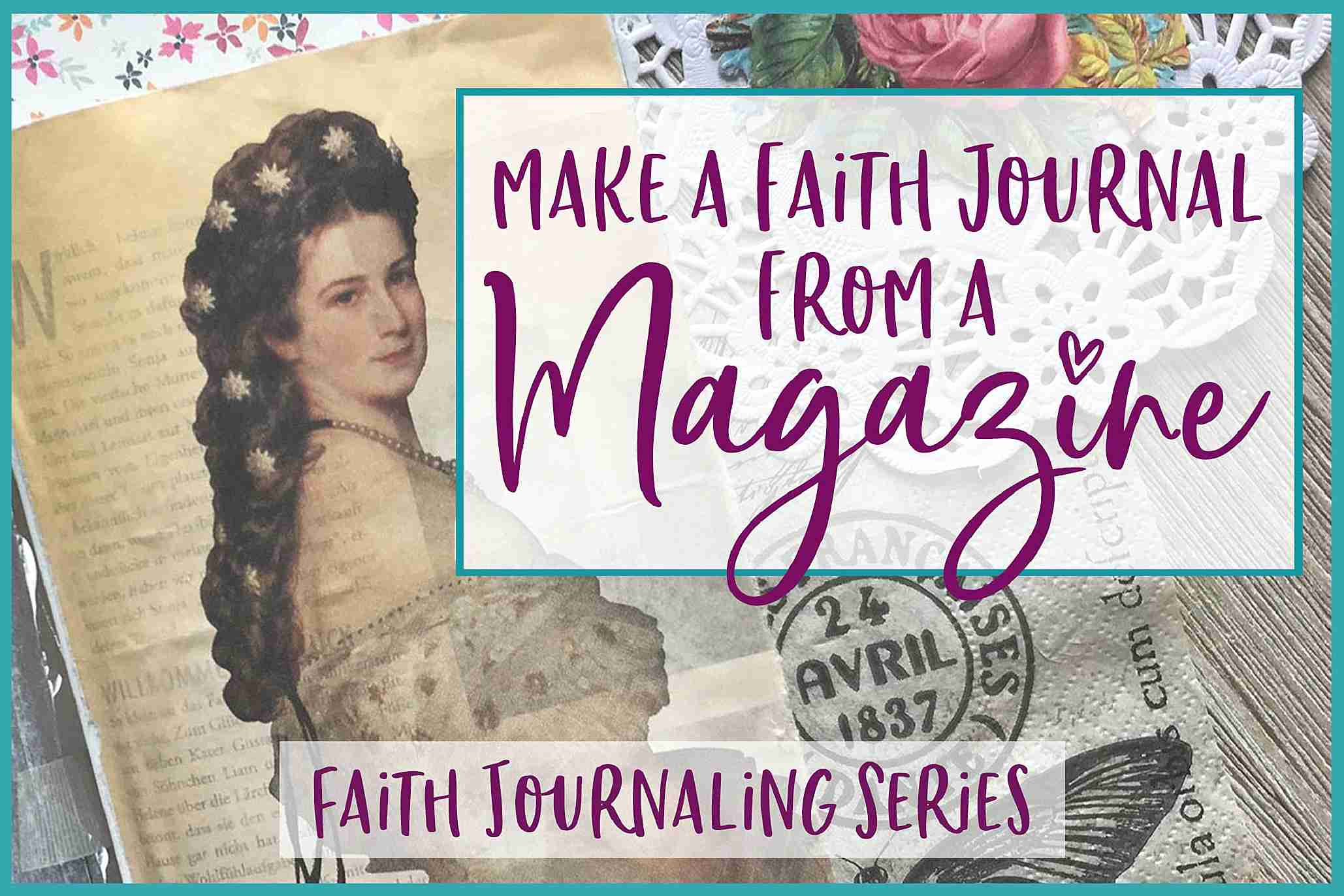 Make a Journal from a Magazine [journaling with a magazine]