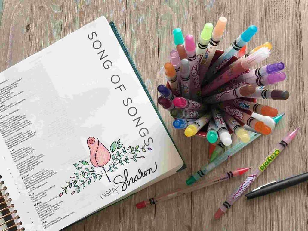 Bible Journaling Using Crayola Crayons