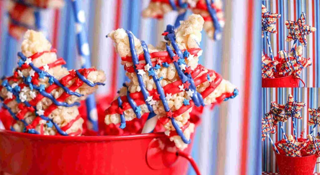 Patriotic Rice Krispy Treats