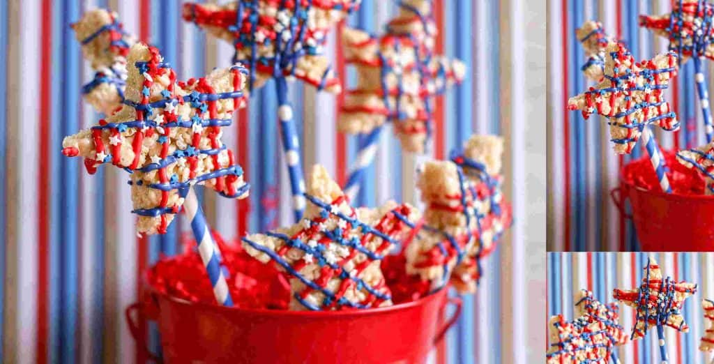 4th july rice krispies treats