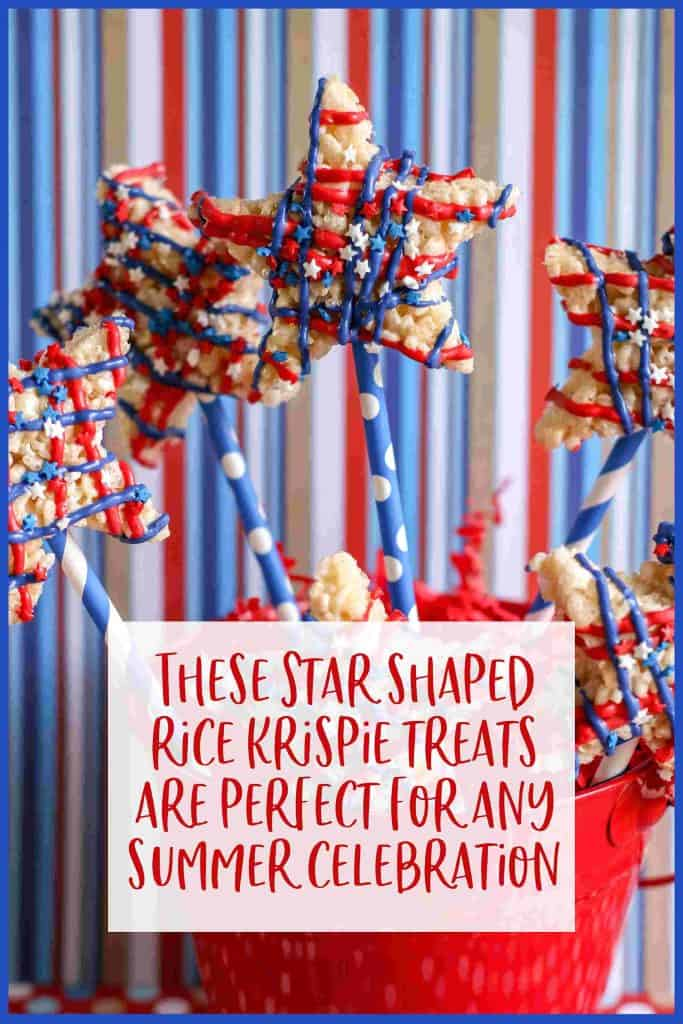 These red, white, blue rice krispy treats are perfect for your summer celebration!
