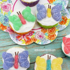 Colorful Butterfly Cupcakes and Butterfly Cupcake Ideas