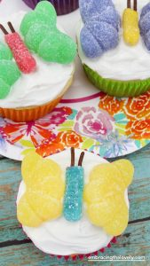 Butterfly Cupcakes for Spring