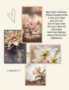 Scripture Writing Collage