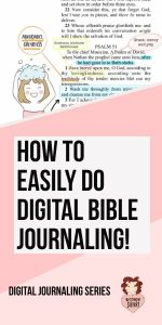 How to Digital Bible Journal