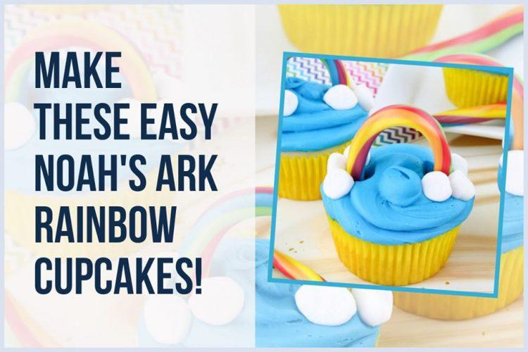 Best Rainbow Cupcake Recipe-Noah's Ark Cupcakes