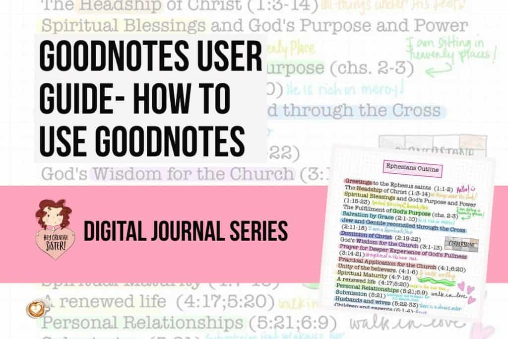 Goodnotes User Guide
