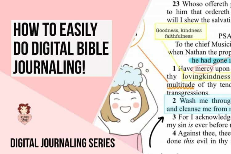 How to do Digital Bible Journaling in Goodnotes