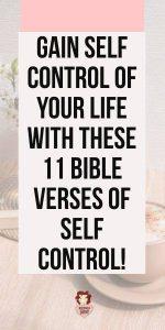 Self Control Bible Verses