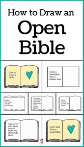How to Draw an Open Bible Step by Step