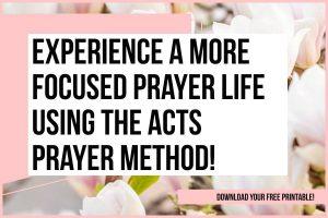 Acts acronym for praye