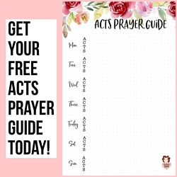 Free Acts Prayer Guide