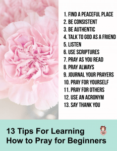Beginners Prayer Guide- How to Pray for Beginners