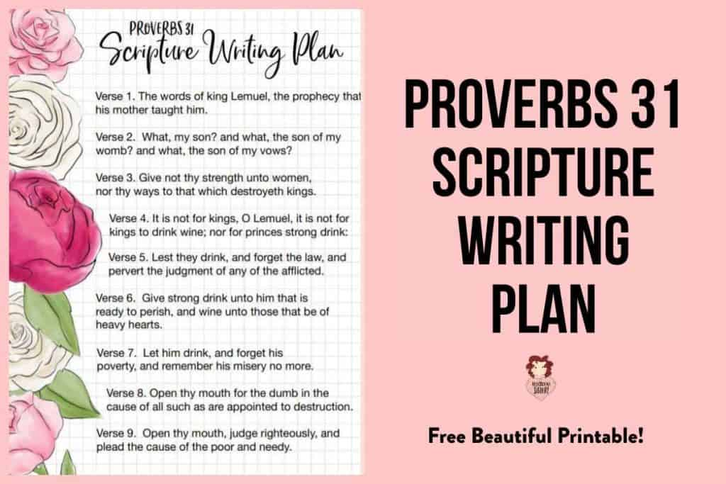 Proverbs 31 Scripture Writing Plan